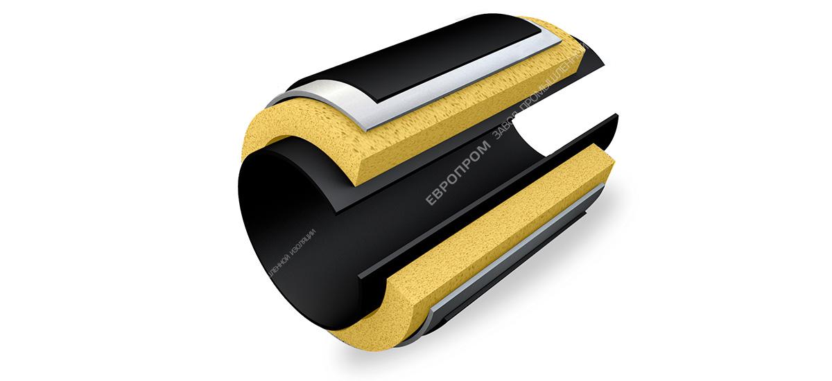 Комплект теплогидроизоляции для заделки сварного стыка трубопровода для подземной прокладки (КТС-ЕВРО-2)