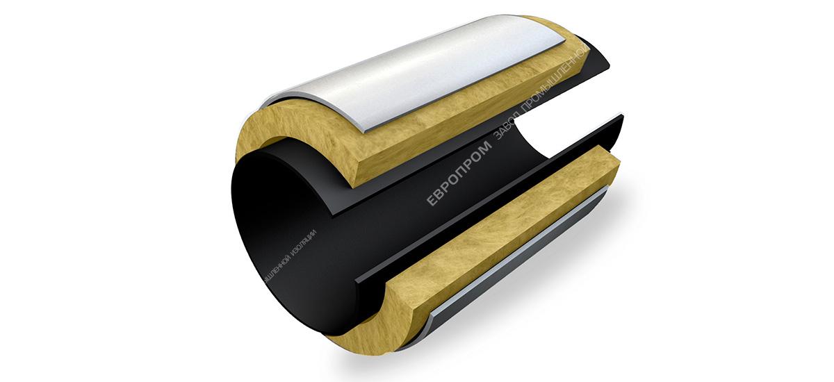 Комплект теплогидроизоляции сварного стыка трубопровода для надземной прокладки с использованием противопожарного (негорючего) материала (КТС-ЕВРО-3)