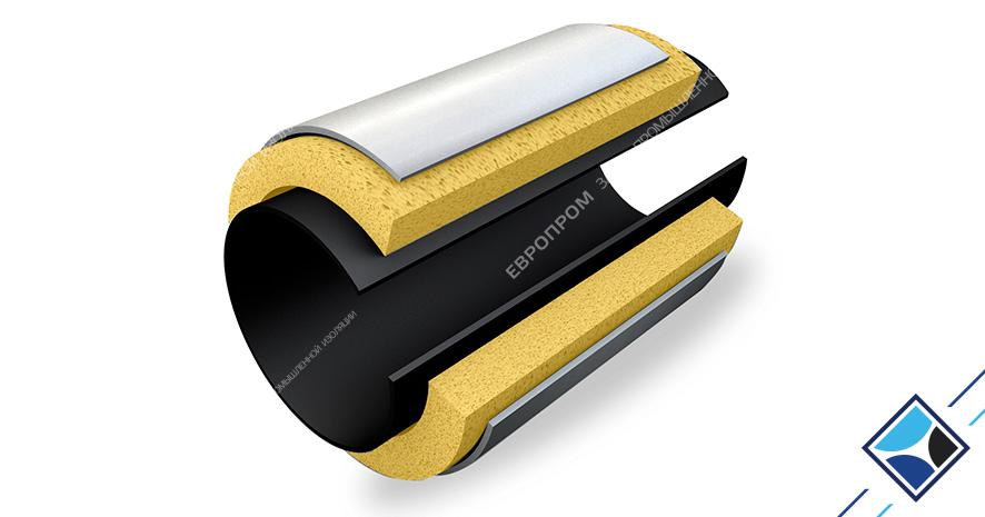 Комплект теплогидроизоляции для заделки сварного стыка трубопровода для надземной прокладки (КТС-ЕВРО-1)